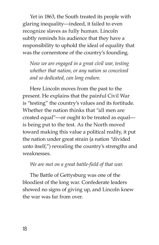 Book Preview For The Gettysburg Address Page 18