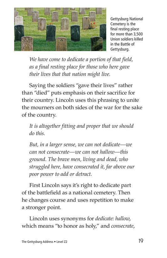 Book Preview For The Gettysburg Address Page 19