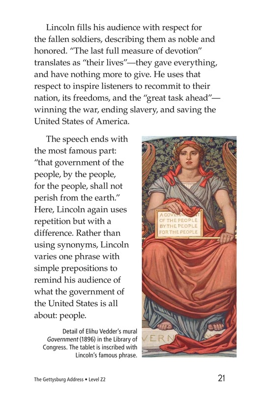 Book Preview For The Gettysburg Address Page 21