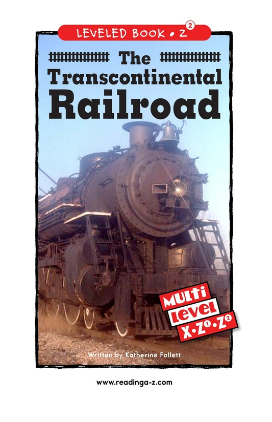 Book Preview For The Transcontinental Railroad Page 0