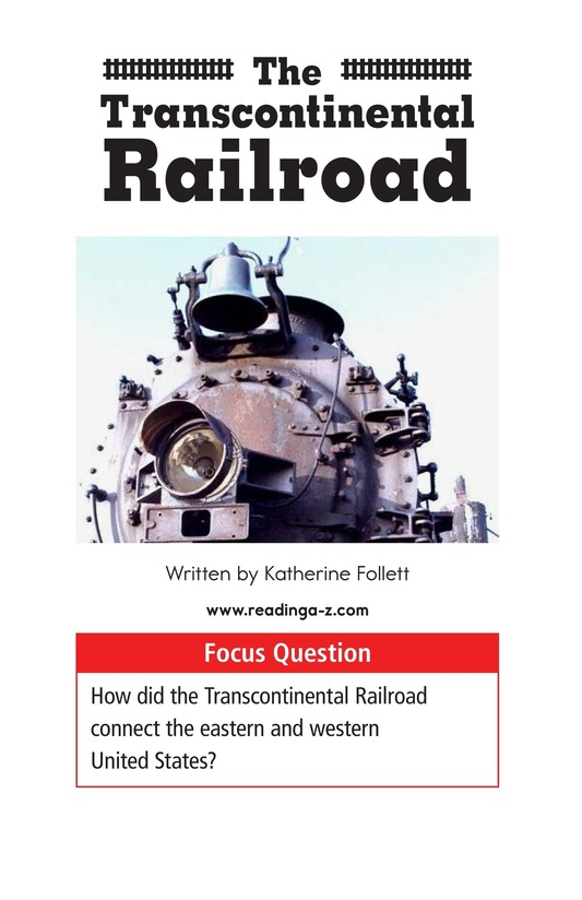 Book Preview For The Transcontinental Railroad Page 1
