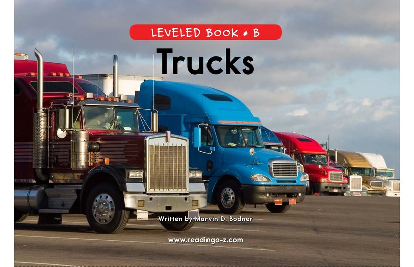 Book Preview For Trucks Page 0
