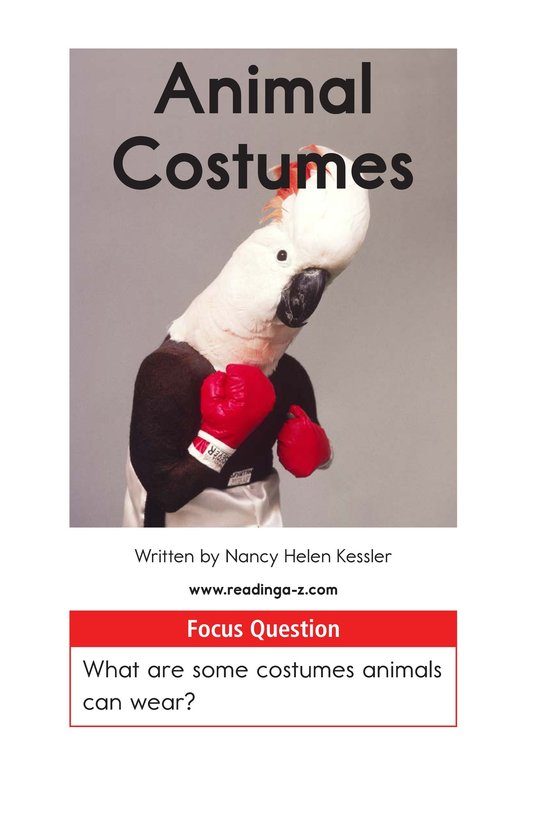 Book Preview For Animal Costumes Page 1