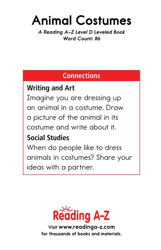 Book Preview For Animal Costumes Page 13