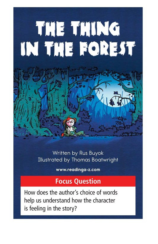 Book Preview For The Thing in the Forest Page 1