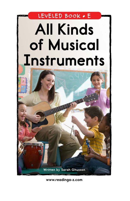 Book Preview For All Kinds of Musical Instruments Page 0