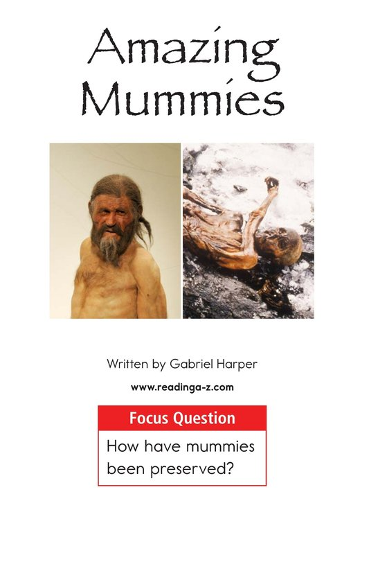 Book Preview For Amazing Mummies Page 1