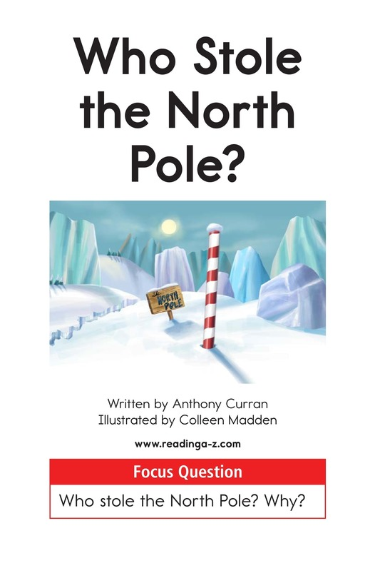 Book Preview For Who Stole the North Pole? Page 1