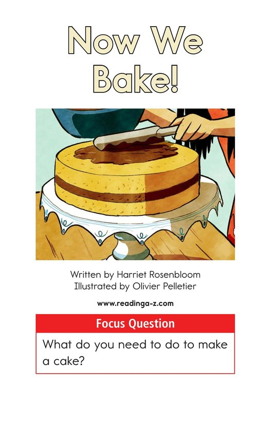 Book Preview For Now We Bake Page 1