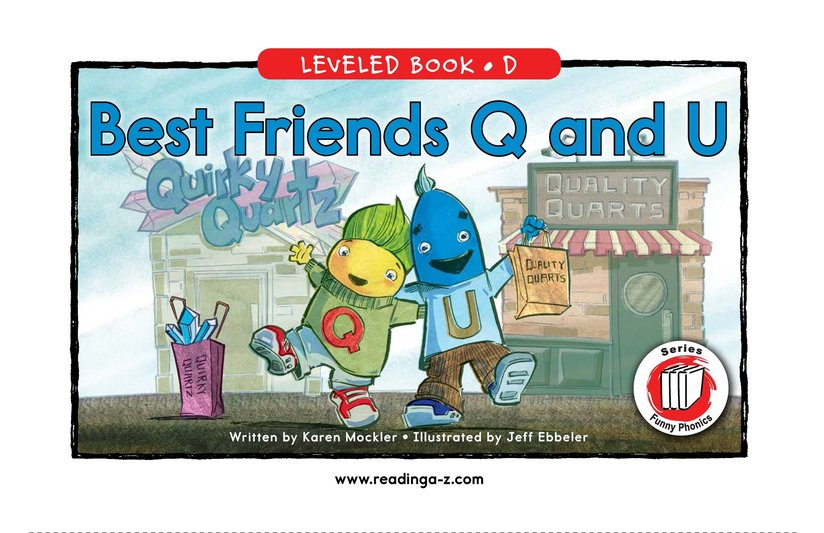 Book Preview For Best Friends Q and U Page 0