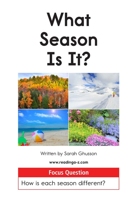 Book Preview For What Season Is It? Page 1