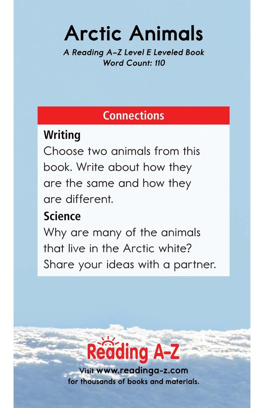 Book Preview For Arctic Animals Page 13