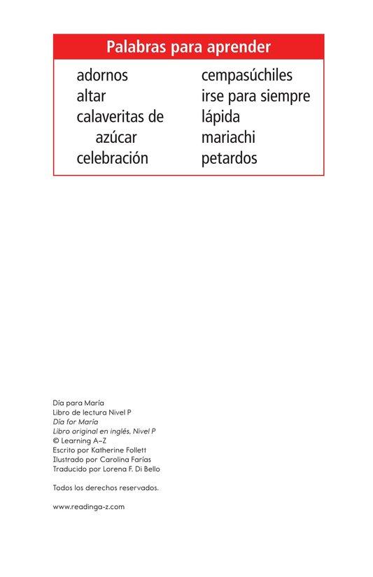 Book Preview For Día for María Page 2