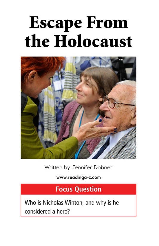 Book Preview For Escape From the Holocaust Page 1