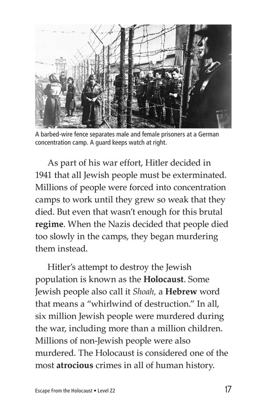 Book Preview For Escape From the Holocaust Page 17