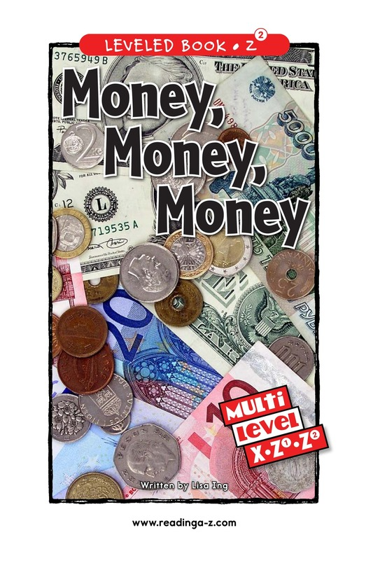Book Preview For Money, Money, Money Page 0