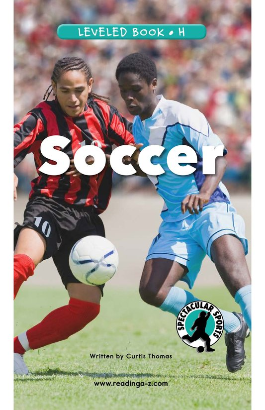 Book Preview For Soccer Page 0