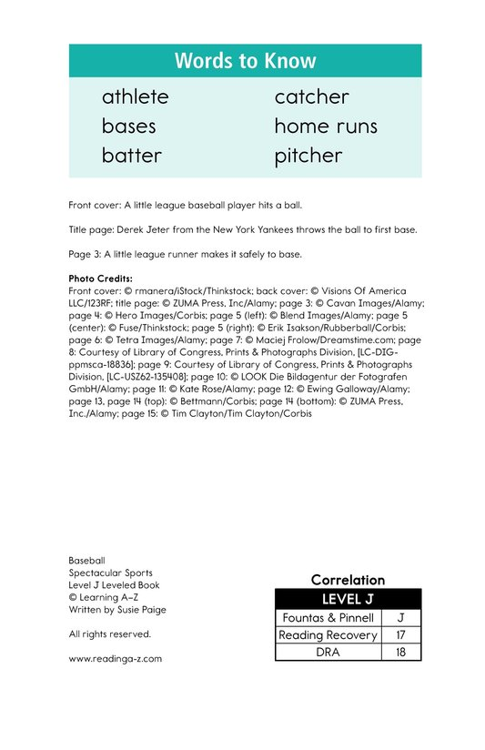 Book Preview For Baseball Page 2