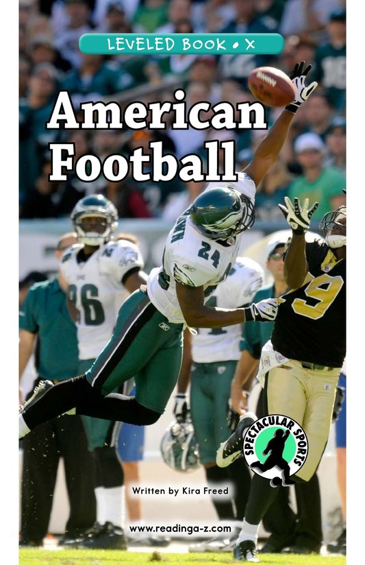 Book Preview For American Football Page 0