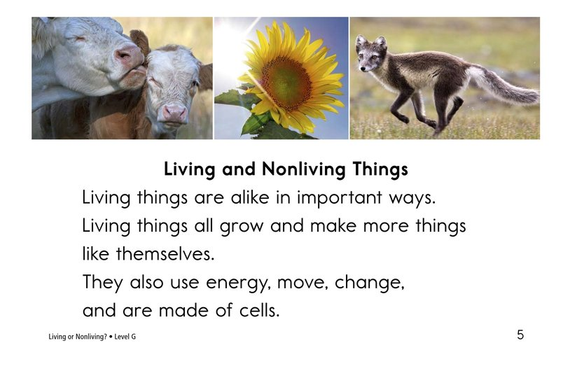 Book Preview For Living Or Nonliving? Page 5