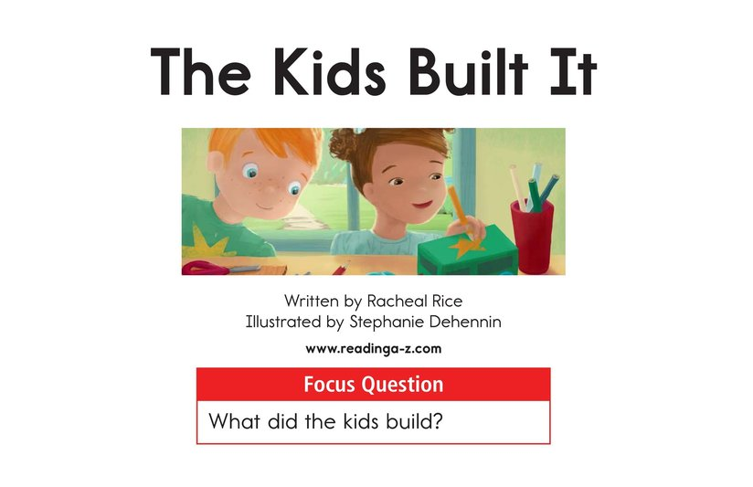 Book Preview For The Kids Built It Page 1