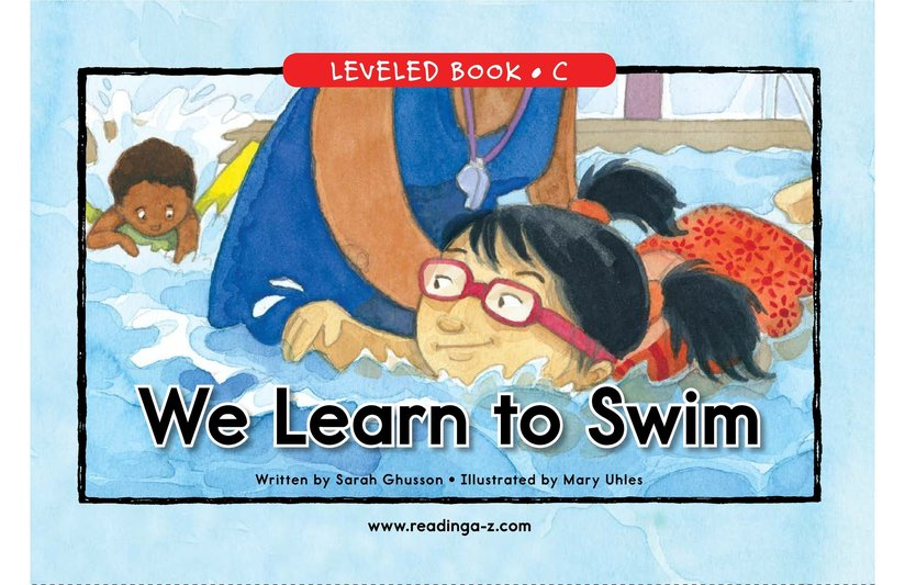 Book Preview For We Learn to Swim Page 0