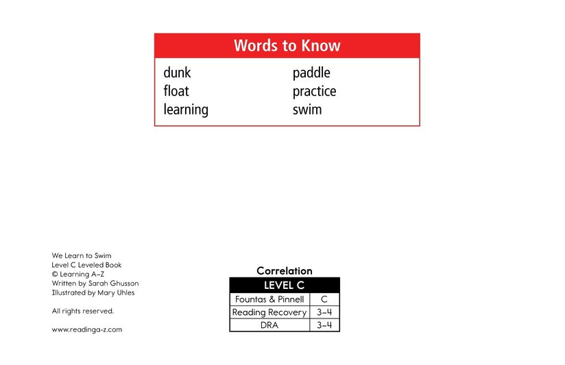 Book Preview For We Learn to Swim Page 2
