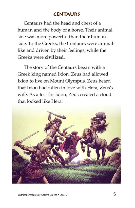 Book Preview For Mythical Creatures of Ancient Greece Page 5
