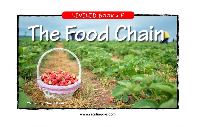 Book Preview For The Food Chain Page 1