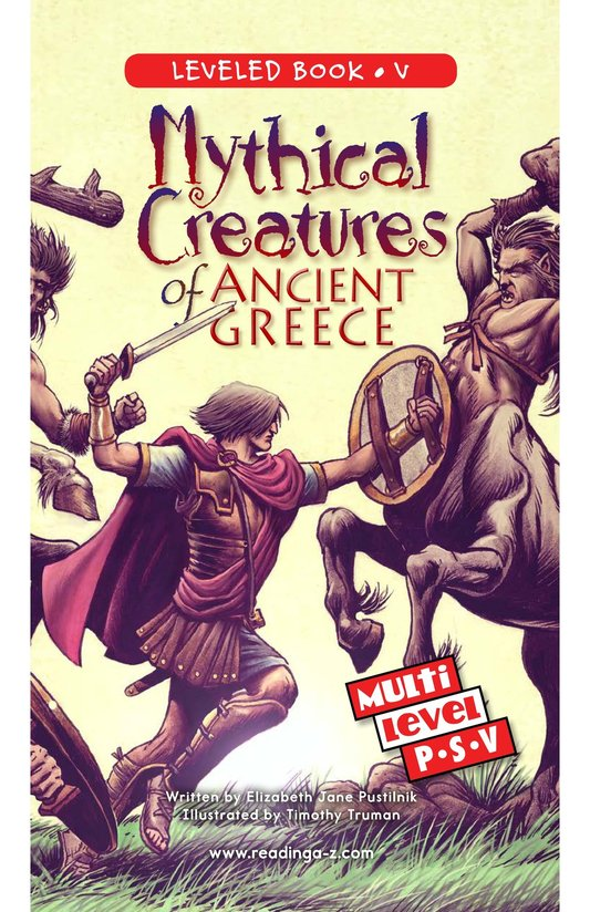 Book Preview For Mythical Creatures of Ancient Greece Page 0