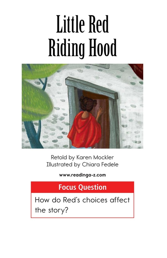 Book Preview For Little Red Riding Hood Page 1