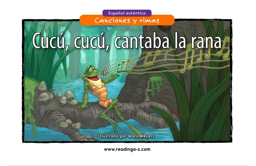 Book Preview For Cucú, cucú, cantaba la rana Page 1