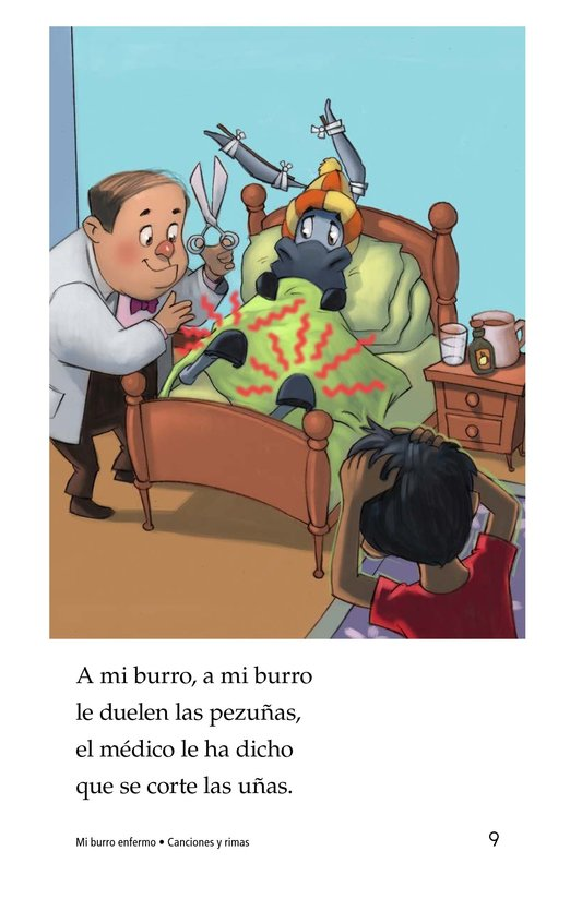 Book Preview For Mi burro enfermo Page 9