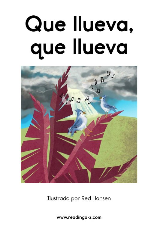 Book Preview For Que llueva, que llueva Page 2