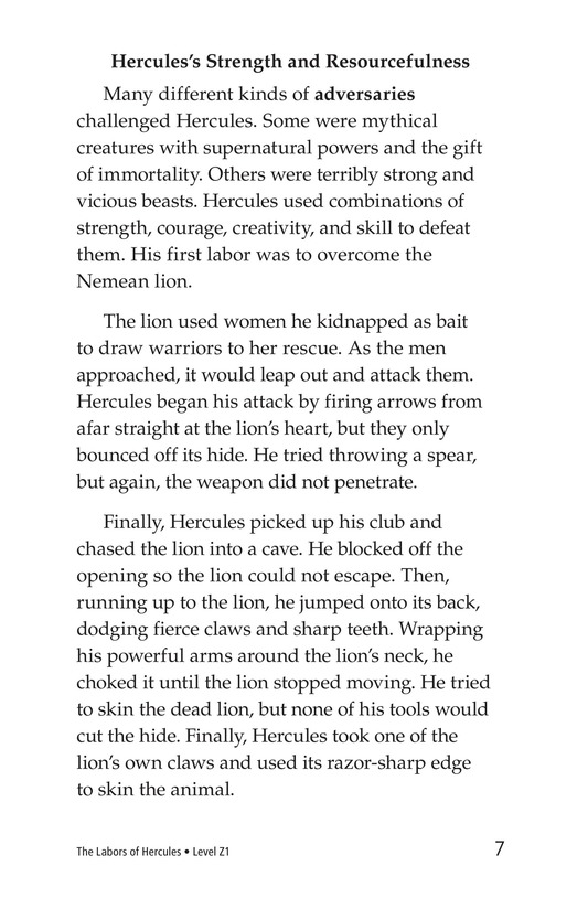 Book Preview For The Labors of Hercules Page 7