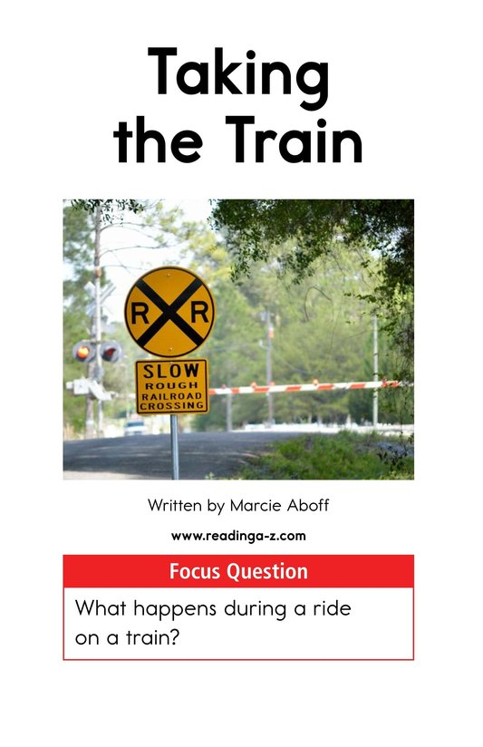 Book Preview For Taking the Train Page 1