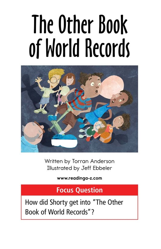 Book Preview For The Other Book of World Records Page 1