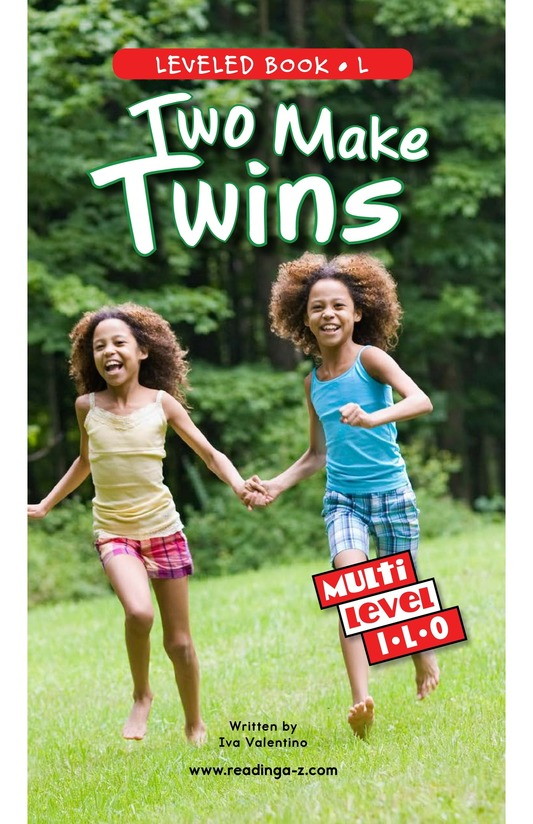 Book Preview For Two Make Twins Page 0