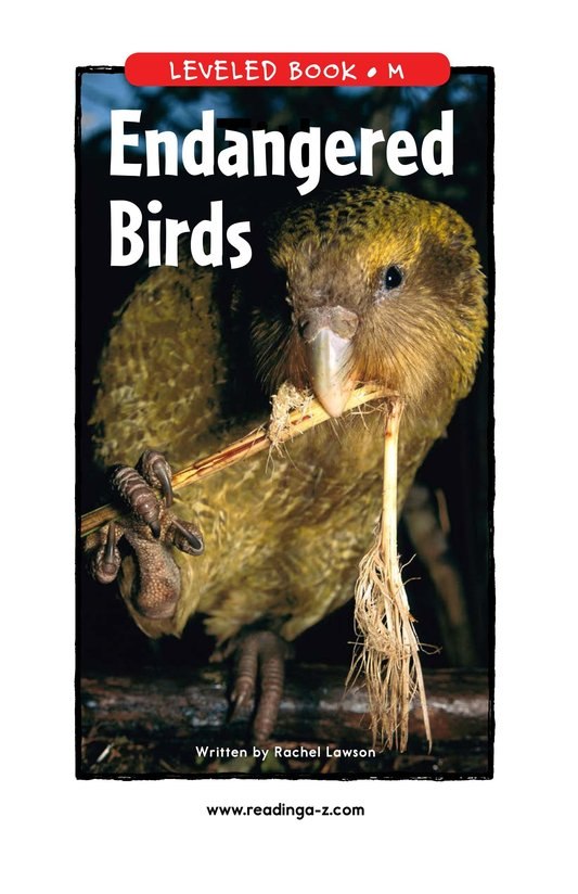 Book Preview For Endangered Birds Page 1