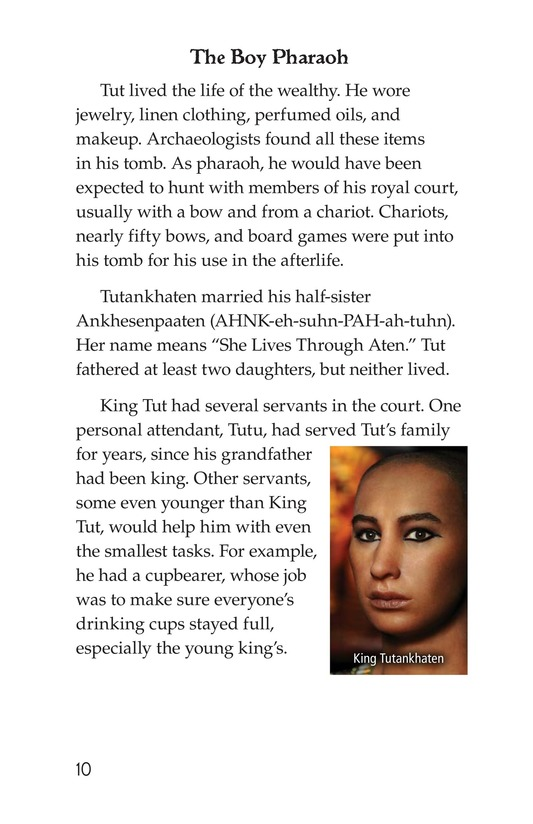 Book Preview For The Mystery of King Tut Page 10