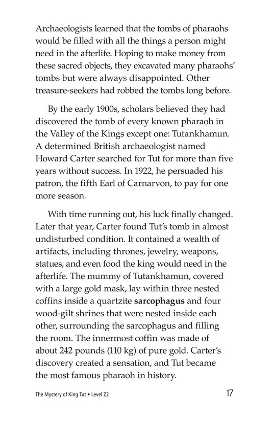 Book Preview For The Mystery of King Tut Page 17