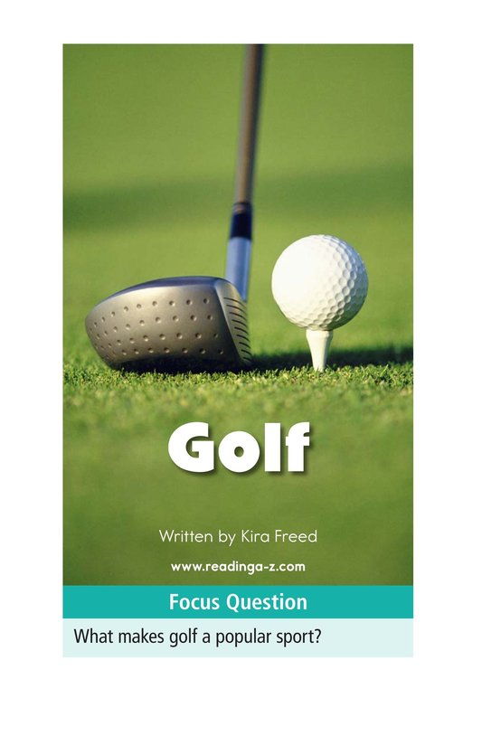 Book Preview For Golf Page 1