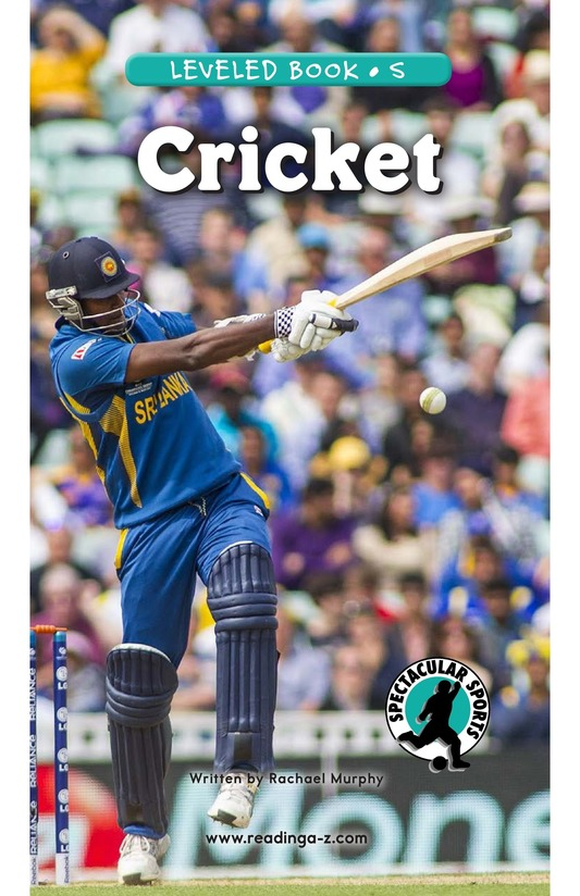 Book Preview For Cricket Page 0