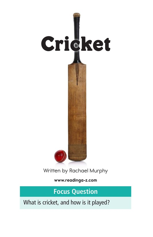 Book Preview For Cricket Page 1