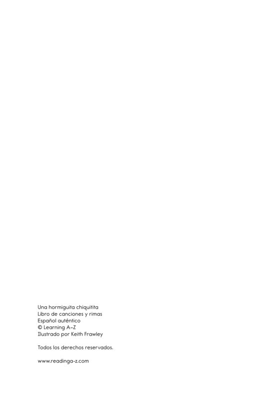 Book Preview For Una hormiguita chiquitita Page 11