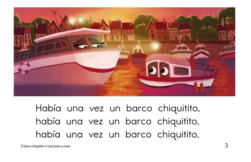 Book Preview For El barco chiquitito Page 3