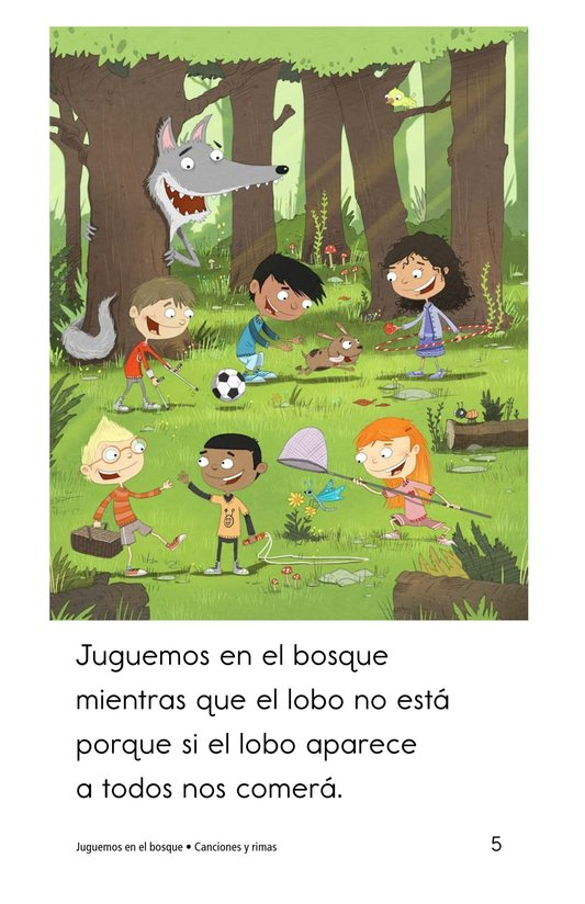 Book Preview For Juguemos en el bosque Page 5