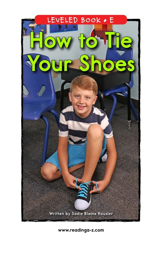 Book Preview For How to Tie Your Shoes Page 0