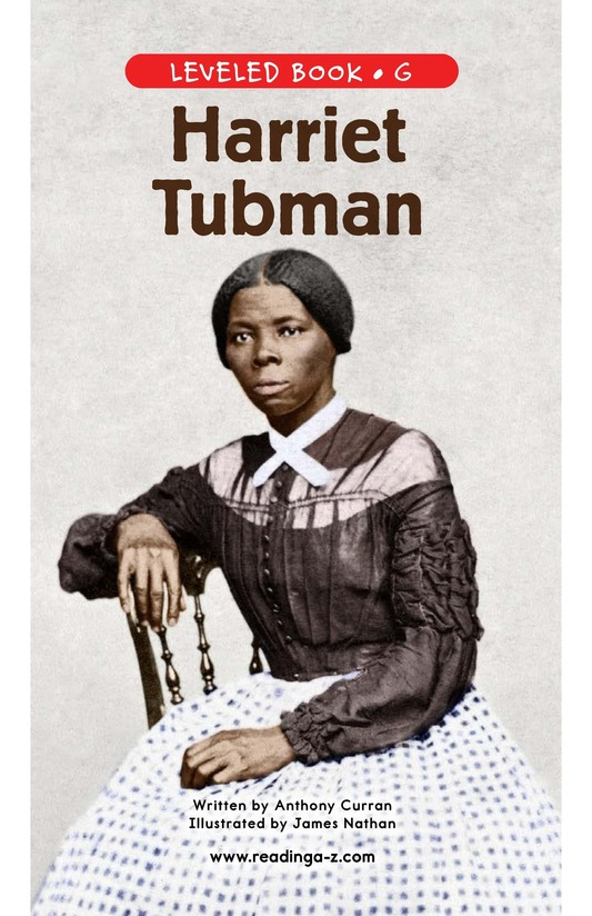 Book Preview For Harriet Tubman Page 0