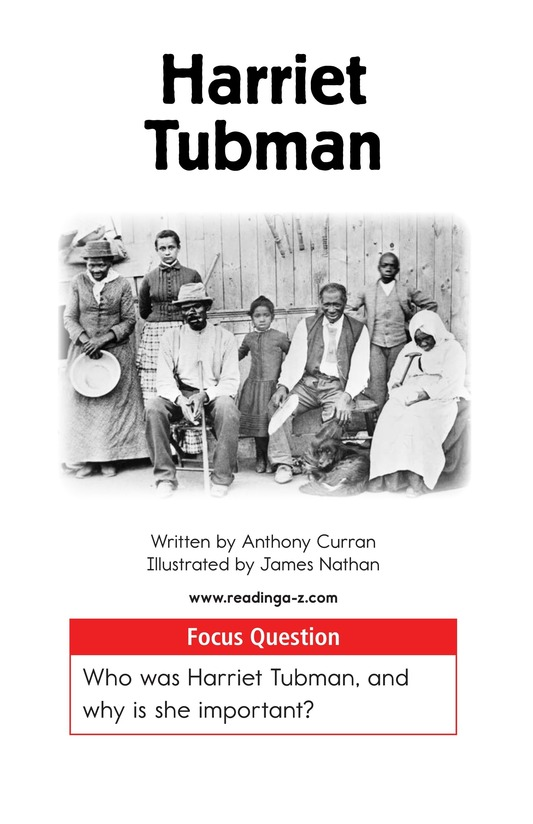 Book Preview For Harriet Tubman Page 1